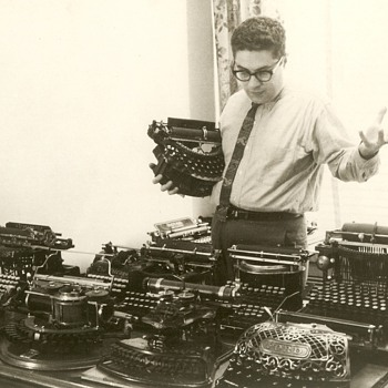 An early American typewriter collector,  Paul Lippman