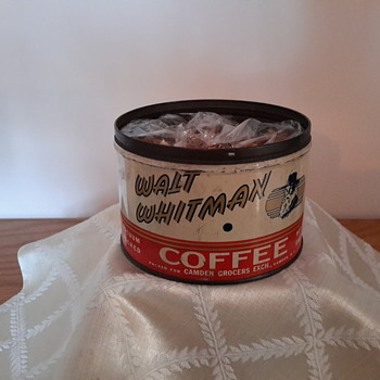 walt whitman coffee can - Advertising