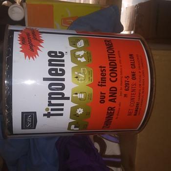 Vintage Tripolene can - Advertising
