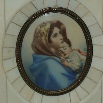 Ferruzzi Madonna Of The Streets On Ivory  Miniature Painting - Fine Art