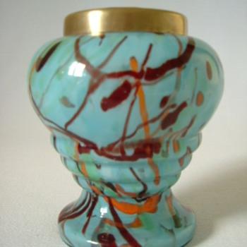 Czech Art Deco Rose Bowl - Art Glass