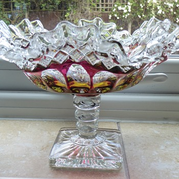 Westmoreland Glass Ruby Red Candy Dish - Glassware