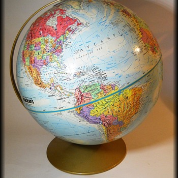 Vintage REPLOGLE Globe - LeRoy M. Tolman ( Cartographer ) - Office