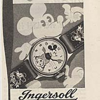 Nice Bullwinkle ad by Buren watch co. 1969, and a 1935 Mickey watch ad.