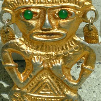 old inca nedallion - Costume Jewelry