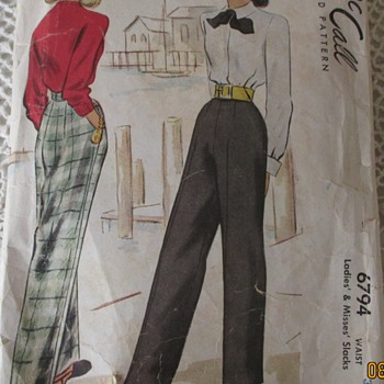 1947 Womens slacks pattern