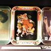 "1913 Hamilton Girl tray ""Original"" tray,1980 Santa Claus tray,1973 repo,of 1925 Party Girl Tray"