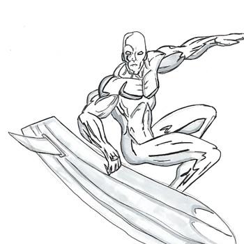 Marvel Drawing Sketch, Circa Late 2000 - Comic Books