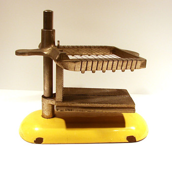Vintage Enameled Butter Slicer - Primitive Farmhouse - Kitchen