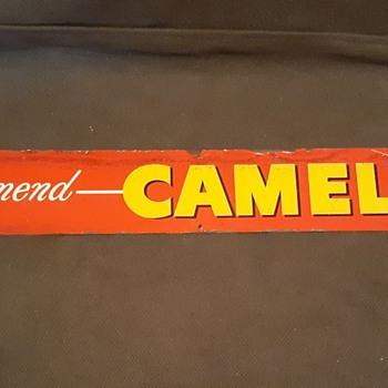 Vintage Camels Cigarette Tin Sign 1942 - Signs