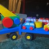 Flatbed, Towing Toy - Painted Toy