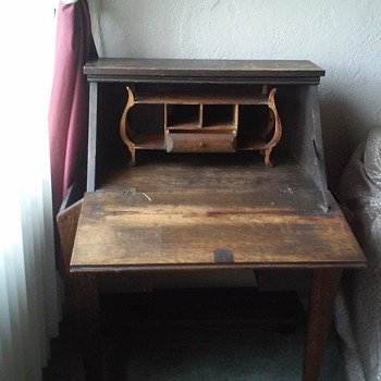 Early 19th Century Antique Secretary Side Pocket Fold Out Desk - Furniture
