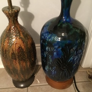 Vintage Drip Glaze Verses Lava Glaze  - Lamps