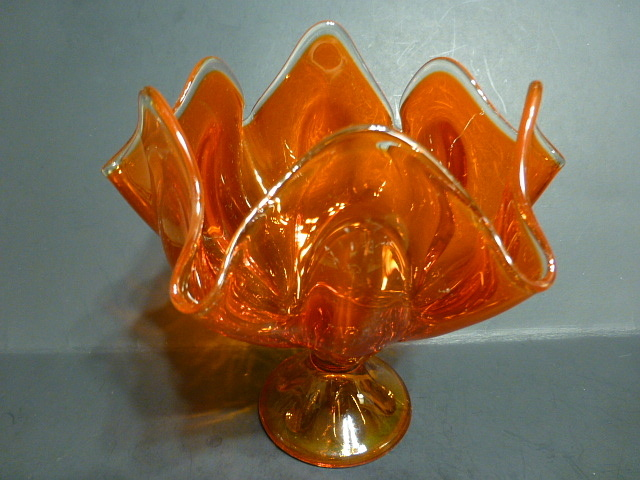 Viking Glass Company Orange Handkerchief Vase Collectors Weekly