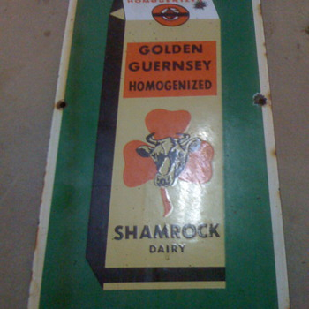 Shamrock Dairy Sign