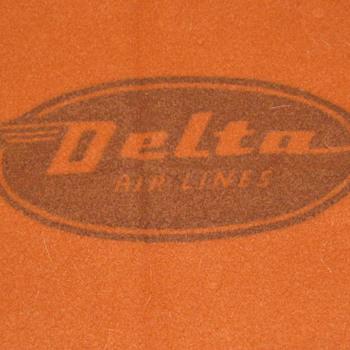 Vintage Virgin Wool Delta Airlines Blanket