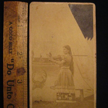 Wild West Side Show Native American Signed CDVs