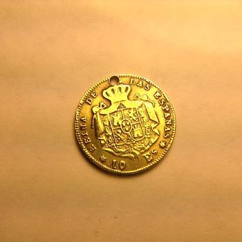 10 Es Spain gold coin