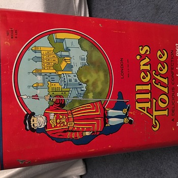 Vintage Allen's Toffee Tin Can