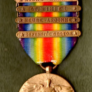 US Victory Medal with Citation Star and Five Clasps