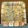 "Everlast Metal Aluminum Floral (Rose) Pattern Tray  (12"" Square)"
