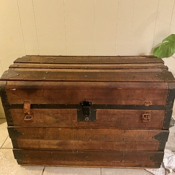Leather covered trunk? - Furniture
