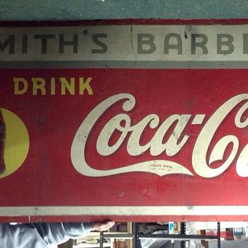 Masonite Sign - Coca-Cola
