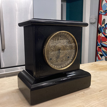 1893 Seth Thomas adamantine mantle clock - after  - Clocks