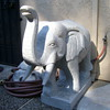 solid marble elephants