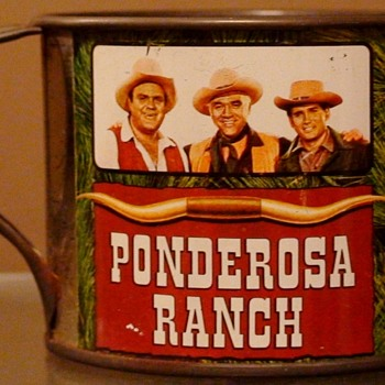 "Ponderosa Tin Cup Souvenirs Ponderosa Ranch Nevada ""Bonanza"" - Advertising"