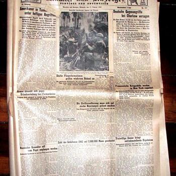 WWII Newspaper - German-American version