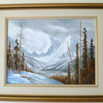 Jasper National Park - oil by Margaret Lougheed
