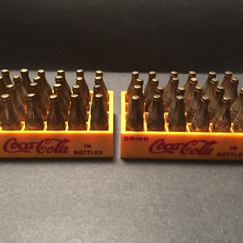 1950's Miniature Coke bottles in case - Coca-Cola
