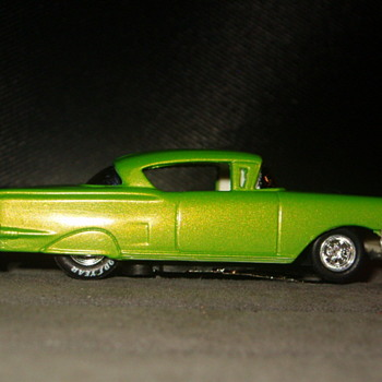 58 CHEVY IMPALA LOWRIDER H.O. SCALE AFX CHASSIS - Model Cars