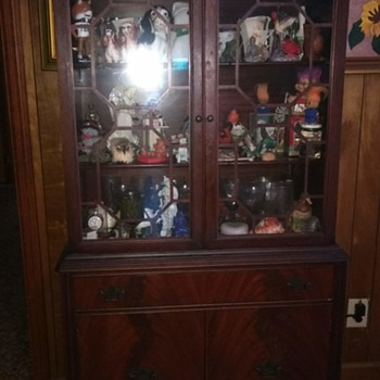 Hepplewhite Style China Cabinet, Antique? - Furniture