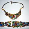 Demi-Parure rhinestone necklace and bracelet