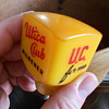 Old old square butterscotch bakelite Utica Club U.C. for me tap handle