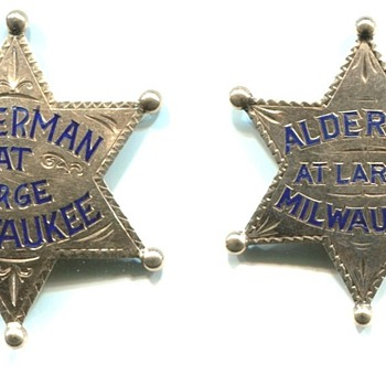 Milwaukee Alderman At Large Badges - Medals Pins and Badges