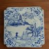 Chinese white blue porcelain tile, plaque
