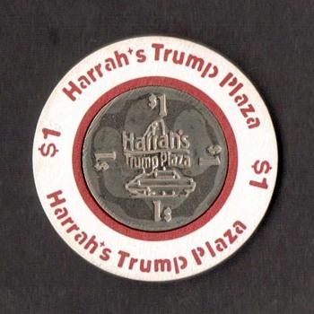 Harrah's Trump Plaza Casino - $1 Gaming Chip - Games