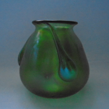 Small Bohemian Iridescent Vase - Art Glass