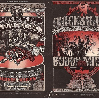Double Norman Orr Fillmore West card, 9/70 - Posters and Prints