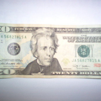 20 dollar  error - US Paper Money