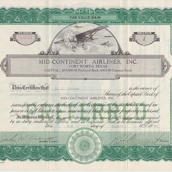 Mid-Continent Airlines? - Paper