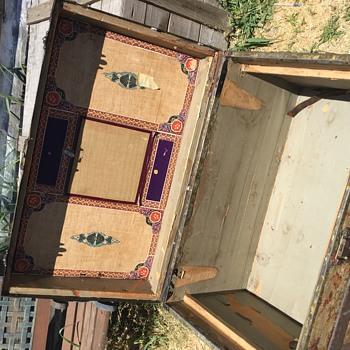 FW Gromm carpet covered trunk