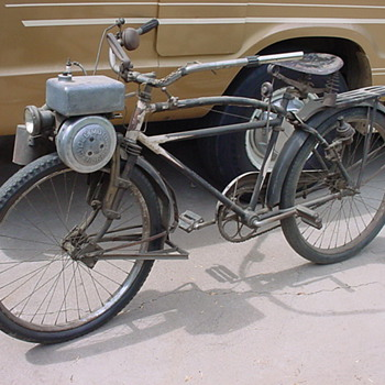 Early bicycle motorized from Iowa - Sporting Goods