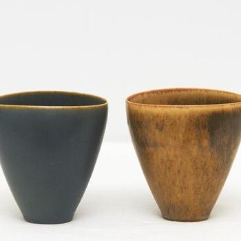 Two Mid-Century Stoneware Vases, Palshus Pottery (Denmark)