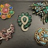 Colorful brooches