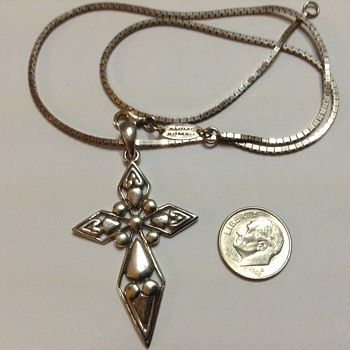 Paolo Romeo Ventage Cross Necklace