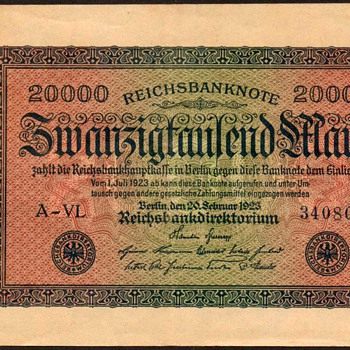 Germany - (20,000) Mark Bank Note